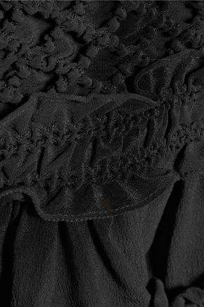 CARVEN Ruffled crepe mini skirt