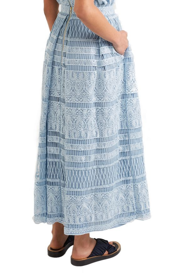 Heart guipure lace maxi skirt | HOUSE OF HOLLAND | Sale up to 70% off | THE  OUTNET