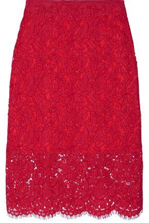DIANE VON FURSTENBERG Glimmer corded lace pencil skirt