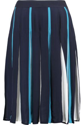 DIANE VON FURSTENBERG Melita pleated silk-blend skirt