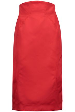 ZAC POSEN Duchesse-satin skirt