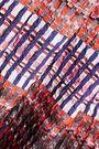 SALONI Naomi pleated printed cloqué midi skirt