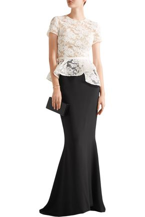 REEM ACRA  New York Silk crepe de chine maxi skirt