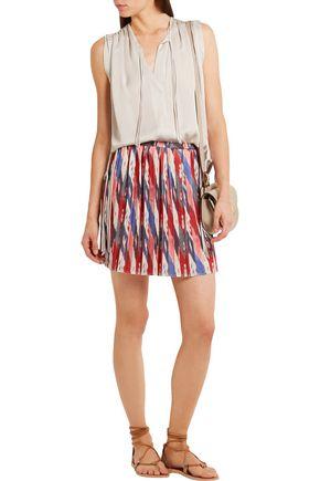 ISABEL MARANT ÉTOILE Hanoi pleated printed satin mini skirt