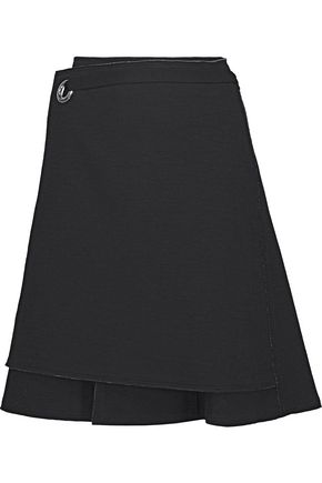 PROENZA SCHOULER Wrap-effect bonded jersey skirt