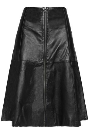 MUUBAA Leather flared skirt