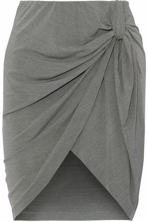 IRO Ranelle wrap-effect jersey mini skirt
