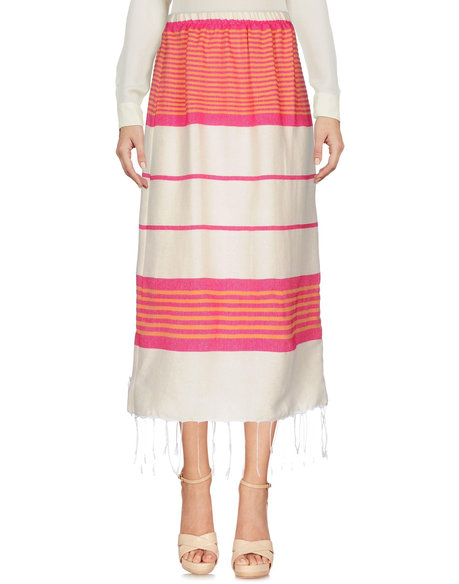《セール開催中》LAURENCE HELLER レディース 7分丈スカート フューシャ S/M 紡績繊維