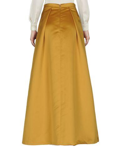 Фото 2 - Длинная юбка цвет охра