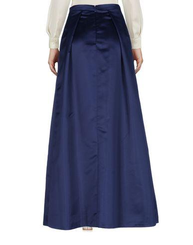 Фото 2 - Длинная юбка темно-синего цвета