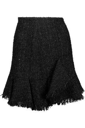 GOEN.J Frayed metallic bouclé-tweed mini skirt
