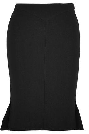 ROLAND MOURET Nash wool-crepe skirt