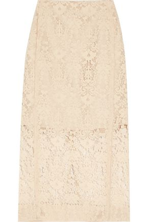 DKNY Flocked lace pencil skirt