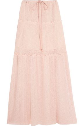 SEE BY CHLOÉ Tiered stretch-knit maxi skirt