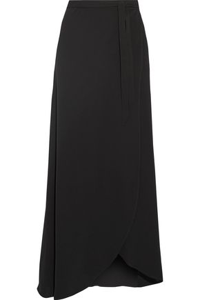 THEORY Stretch-crepe wrap maxi skirt