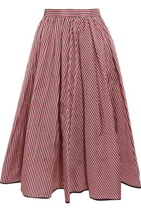 TOME Striped taffeta midi skirt