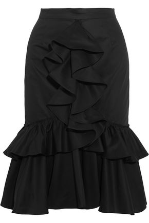 TOME Ruffled cotton-twill skirt