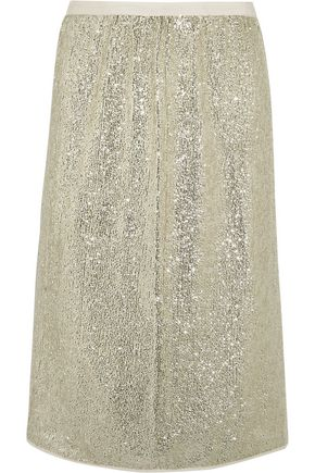 VANESSA BRUNO Gregor sequined crepe skirt