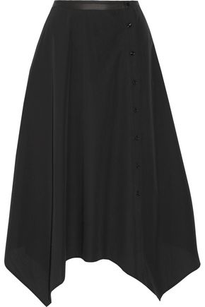 LEMAIRE Asymmetric cotton-poplin midi skirt