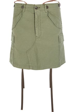 JUNYA WATANABE Slub cotton-blend mini skirt