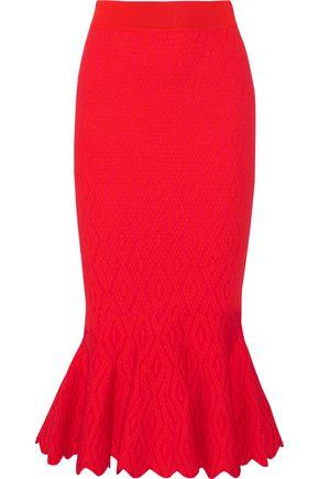 JONATHAN SIMKHAI Textured stretch-knit midi skirt