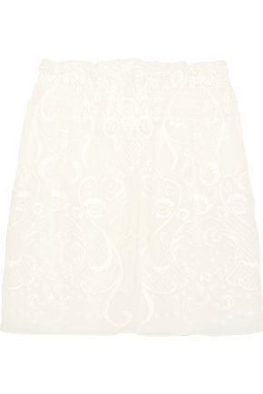 MAGDA BUTRYM Cusset embroidered silk-voile mini skirt