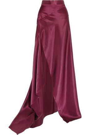 MICHAEL LO SORDO Empress asymmetric silk-satin maxi skirt