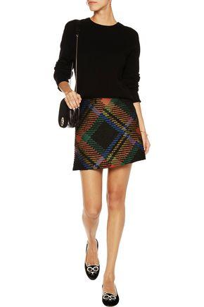 ALICE + OLIVIA Jessa bouclé-jacquard mini skirt