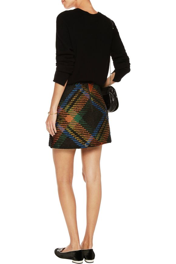Jessa bouclé-jacquard mini skirt | ALICE+OLIVIA | Sale up to 70% off | THE  OUTNET