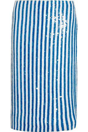 J.CREW Kingfisher sequined silk crepe de chine skirt