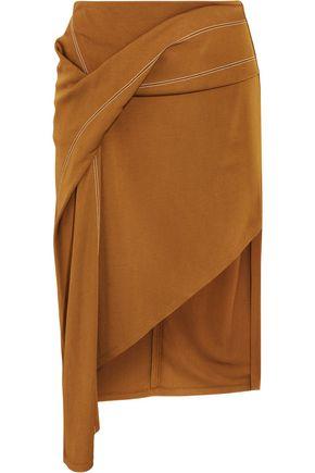ATLEIN Asymmetric draped jersey skirt