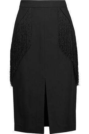 JONATHAN SIMKHAI Fringed crepe skirt
