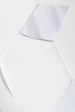 DION LEE Cutout tech-jersey and mesh pencil skirt