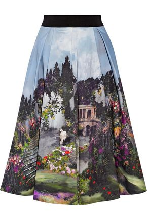 ALICE + OLIVIA Audrey printed cotton-blend skirt