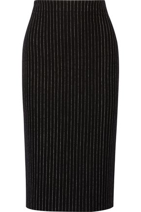 DKNY Pinstriped wool-blend pencil skirt