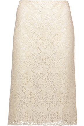 NINA RICCI Guipure lace skirt