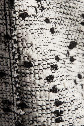 NINA RICCI Frayed cotton-blend bouclé skirt