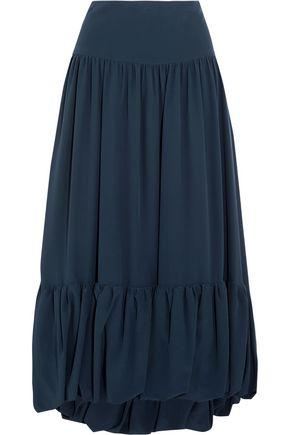 SONIA RYKIEL Silk crepe de chine midi skirt