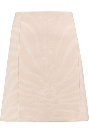 CARVEN Wool-blend jacquard mini skirt