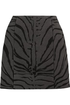 CARVEN Wool-blend jacquard skirt