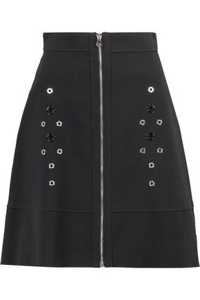 PROENZA SCHOULER Eyelet-embellished cotton-blend mini skirt