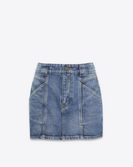 SAINT LAURENT Kurze Röcke D Mini skirt in faded blue denim f