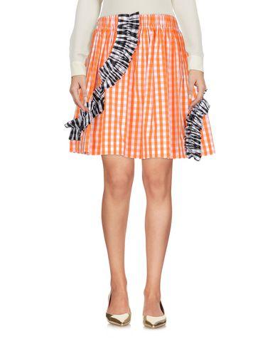 Фото - Юбку до колена от MSGM оранжевого цвета