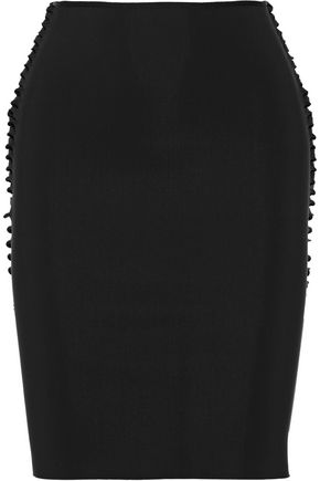 DION LEE Cutout tech-jersey pencil skirt
