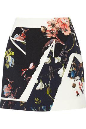 ERDEM Mari floral-print crepe mini skirt