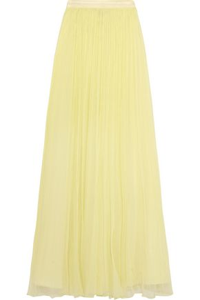 NEEDLE & THREAD Crinkled-chiffon maxi skirt