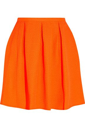 OPENING CEREMONY Ethan neon embossed piqué mini skirt