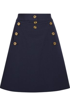 MICHAEL KORS COLLECTION Embellished wool-crepe mini skirt