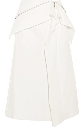 DION LEE Axis ruffled cotton-blend skirt