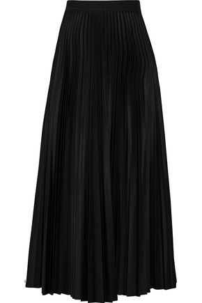 THEORY Pleated shell midi skirt